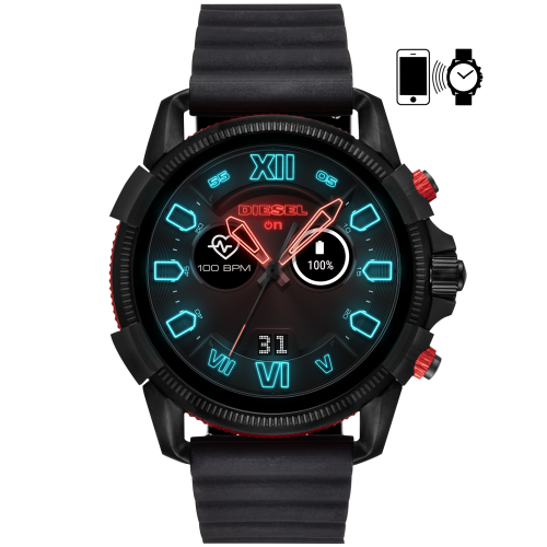 Smartwatch Uomo Diesel FULL GUARD 2.5 DZT2010 in silicone nero