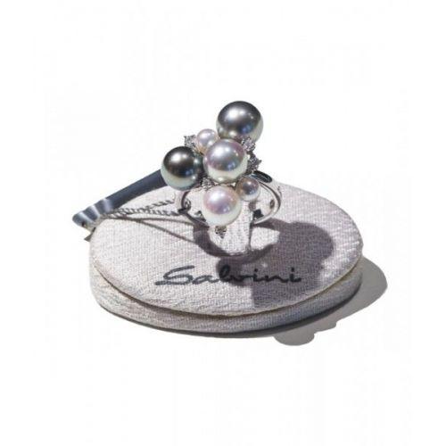 Anello Salvini In Oro Bianco Diamanti e Perle 20018654
