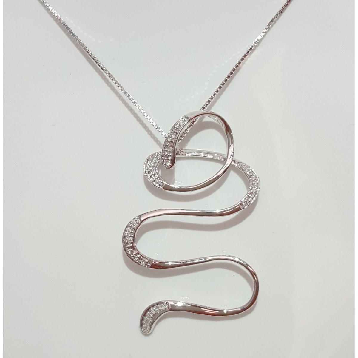 Collana Donna Oro in Oro Bianco e Diamanti KP4402