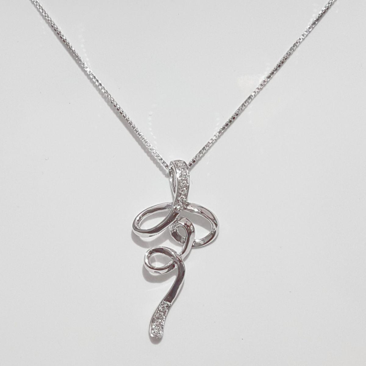 Collana Donna Oro in Oro Bianco e Diamanti DWP0178