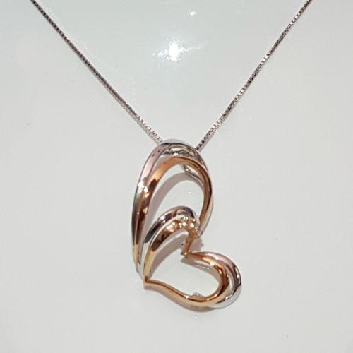 Collana Donna Oro in Oro Bianco e Diamanti DKP0344