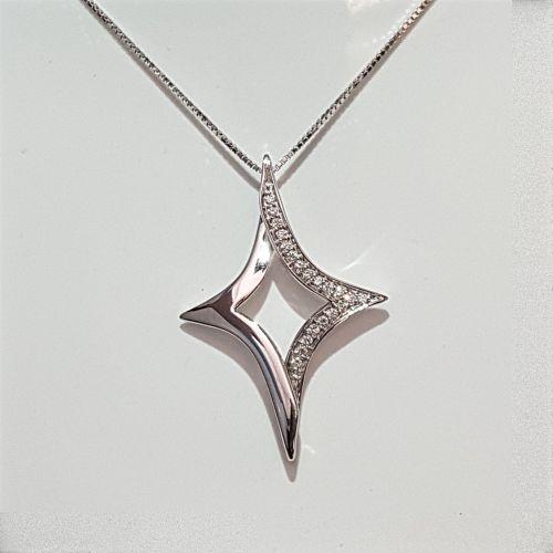 Collana Donna Oro in Oro Bianco e Diamanti DKP0303