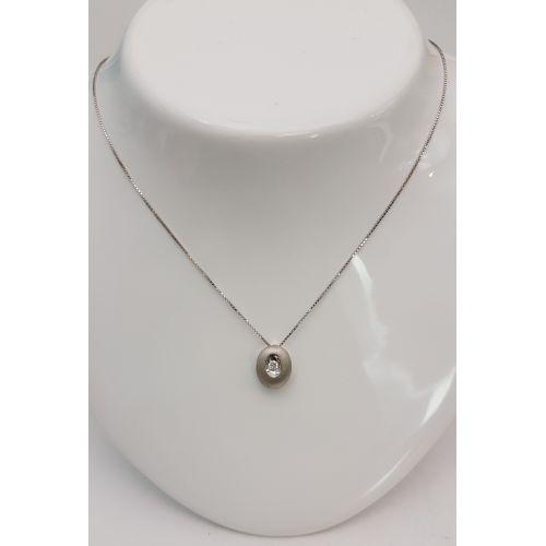 Collana Kiara in Oro Bianco e Diamanti KCLD415