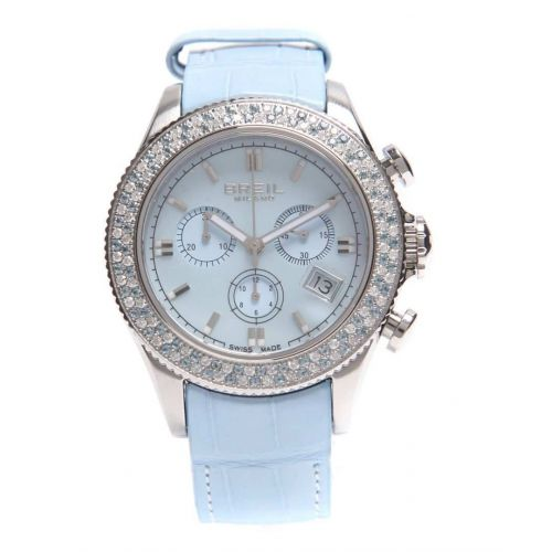 Orologio Breil Milano Aquamarine BW0518 Cronografo con Diamanti