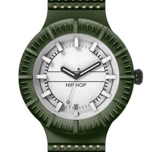 Orologio Hip Hop Man HWU0394 da 42 mm Verde Militare e Angora