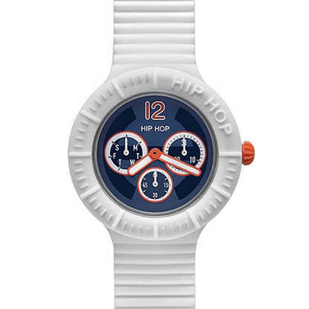 Orologio Hip Hop Sportsman Multifunzione HWU0180 da 42 mm Bianco