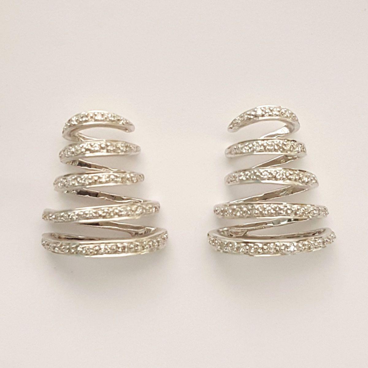 Orecchini Donna Oro in Oro Bianco e Diamanti TO2444