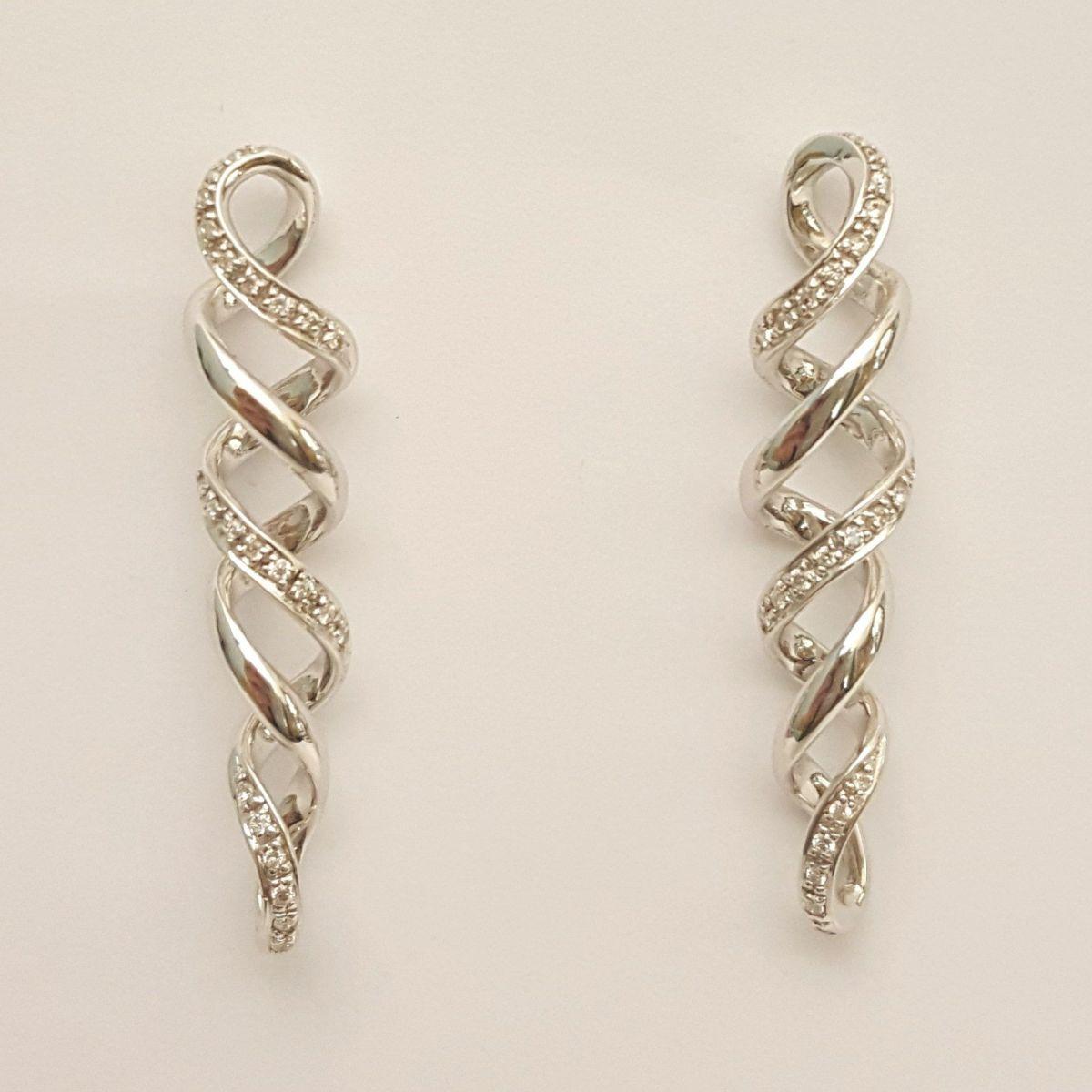 Orecchini Donna Oro in Oro Bianco e Diamanti KO4275