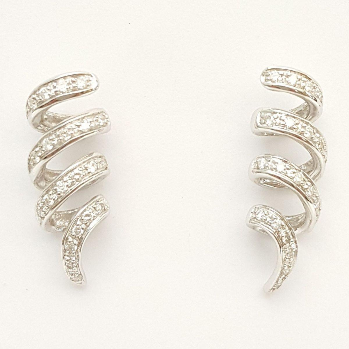 Orecchini Donna Oro in Oro Bianco e Diamanti KO3350