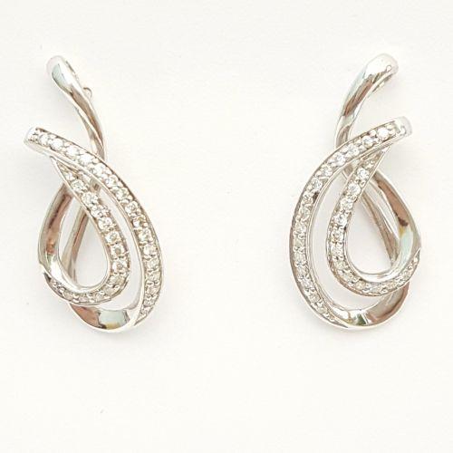 Orecchini Donna Oro in Oro Bianco e Diamanti KO4234