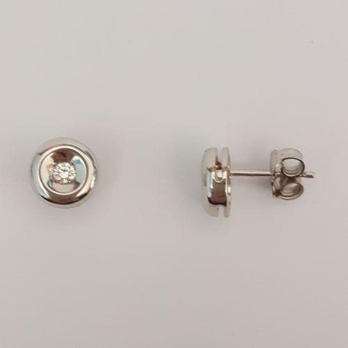 Orecchini Kiara in Oro Bianco e Diamanti KERD 54