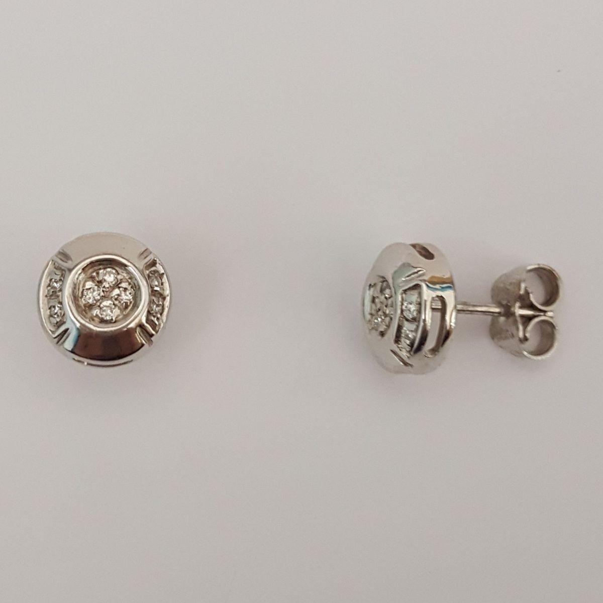 Orecchini Yukiko in Oro Bianco e Diamanti KERD 261
