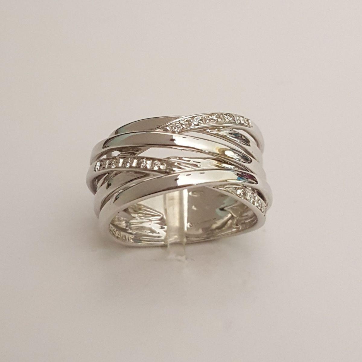 Anello Donna Oro KF3393 in Oro Bianco e Diamanti