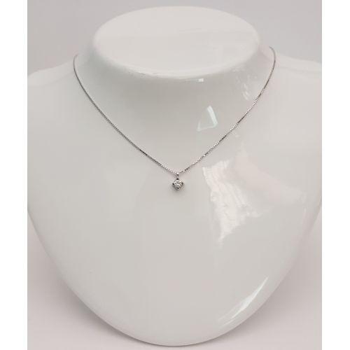 Collana Punto Luce Donna Oro DKPL0677.012 in Oro Bianco