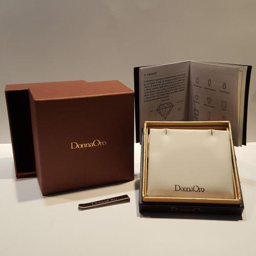 Collana Punto Luce Donna Oro Invisible Setting DIPF0698.018 in Oro Bianco
