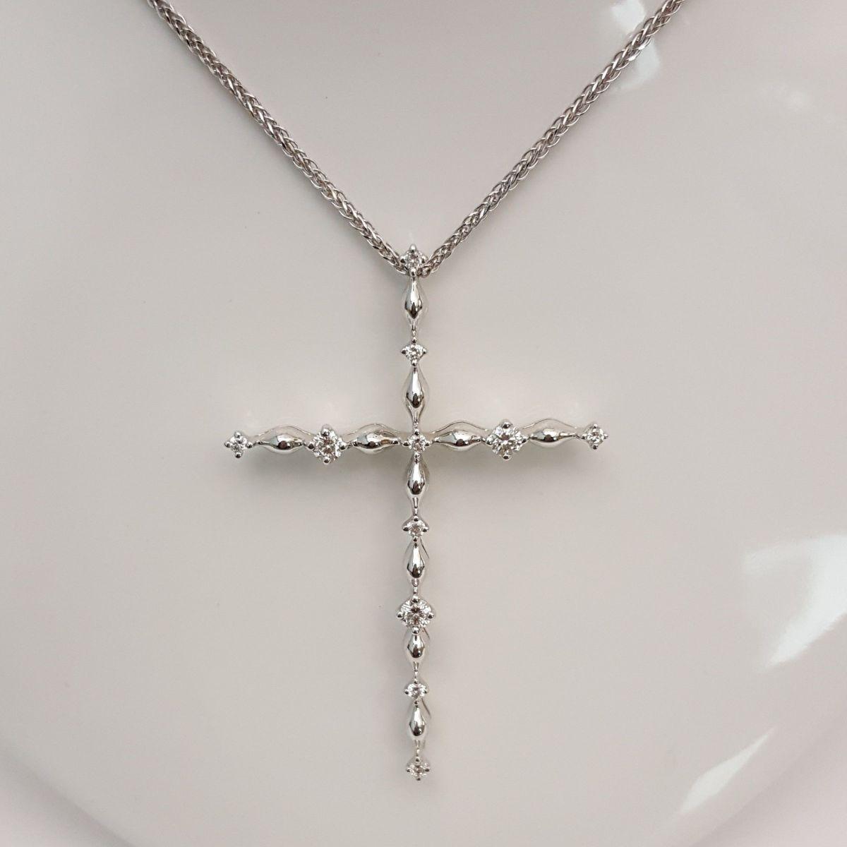 Collana Croce Donna Oro DTP0695.43 in Oro e Diamanti