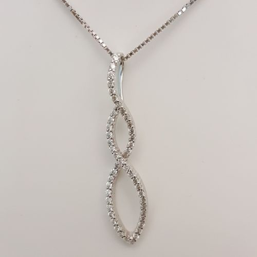 Collana Donna Oro DFPF0938.025 in Oro e Diamanti