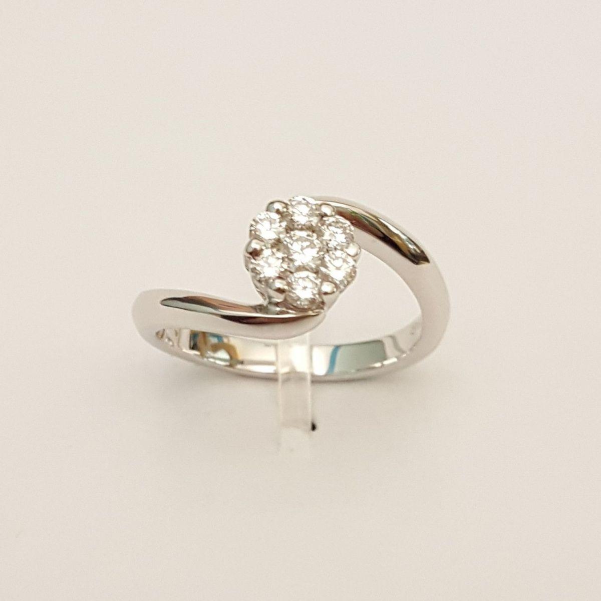 Anello Donna Oro in Oro Bianco TF2738.35 con Diamanti