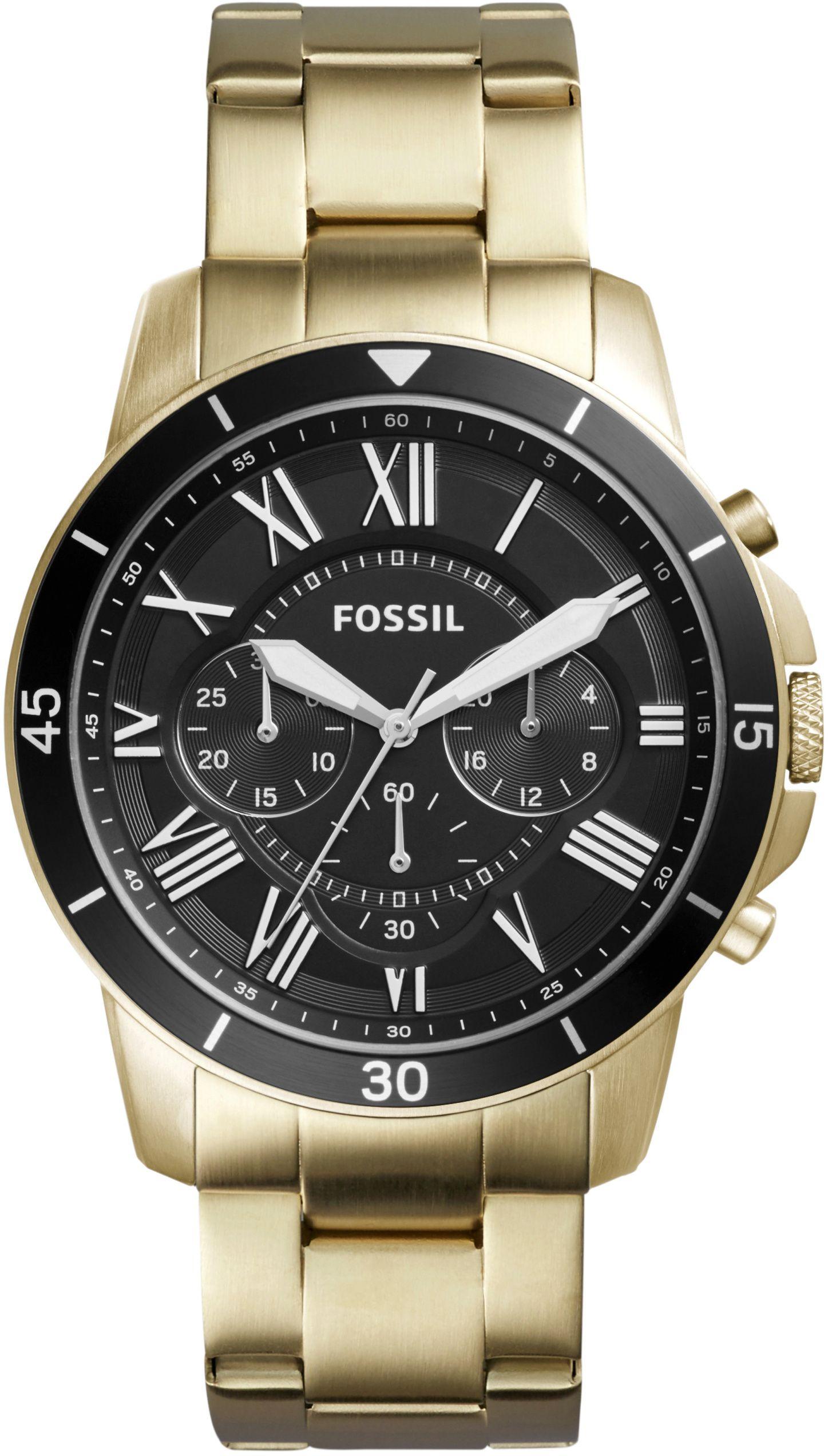 Grant Acciaio Fs5267 Orologio Sport In Dorato Fossil Tc1JlKF