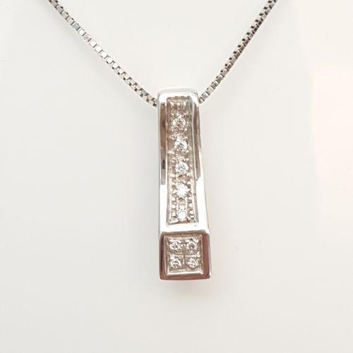 Collana Yukiko KCLD542 in Oro Bianco con Pendente con Diamanti