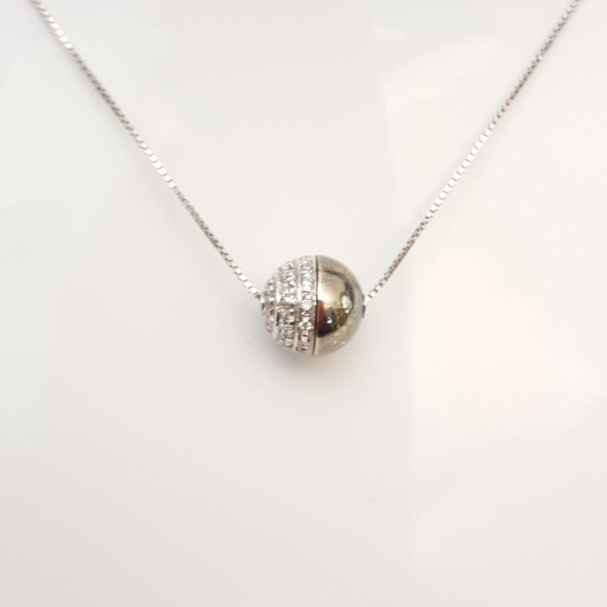 Collana Yukiko KLID606 in Oro Biancoe Diamanti