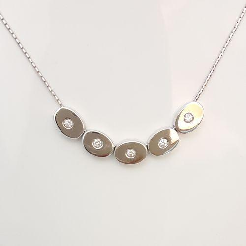 Collana Fogi COL9097/OB1 in Oro Bianco e Diamanti