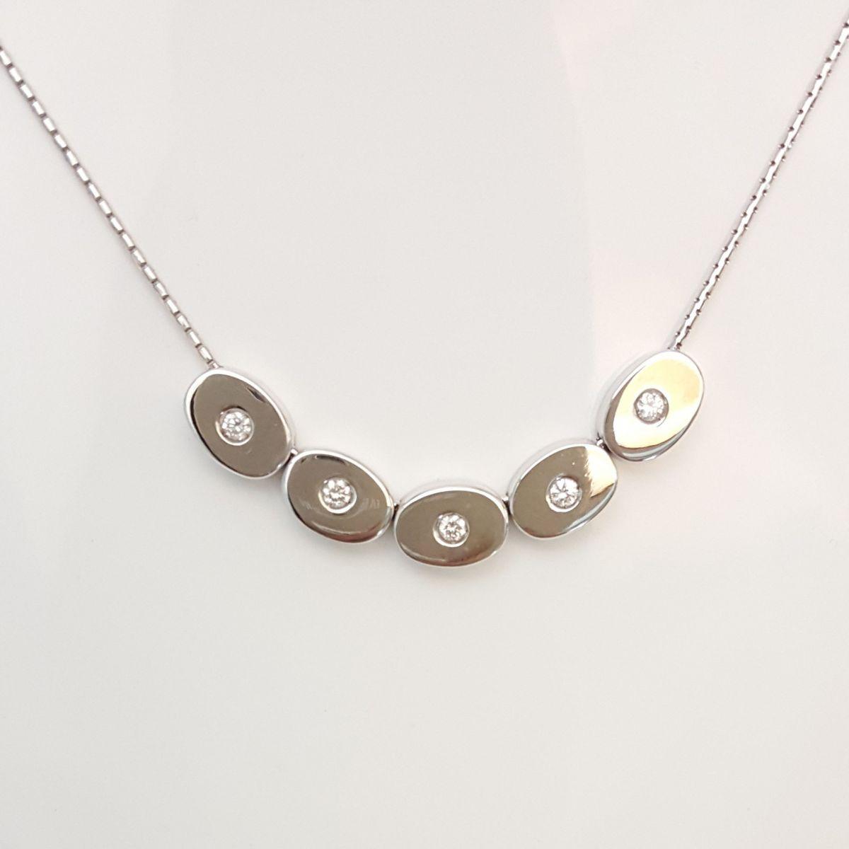 classico piuttosto bella arriva Collana Fogi COL9097/OB1 in Oro Bianco con 5 Diamanti