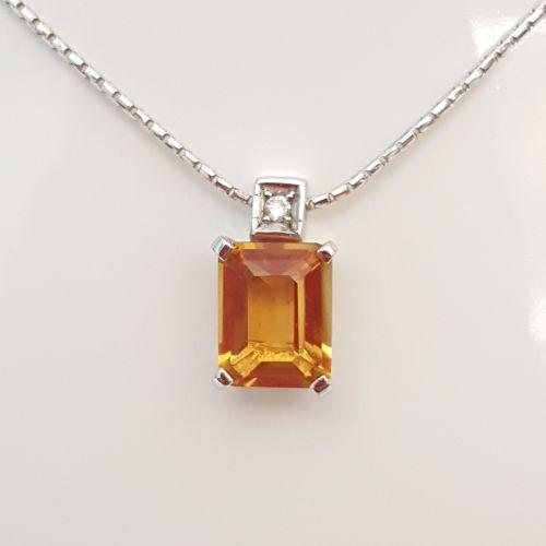 Collana Fogi COL9363/CI in Oro Bianco con Diamante e
