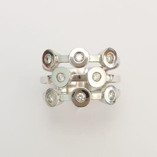 Collana Fogi CL123/626 in Oro Bianco con Diamante Taglio Brillante