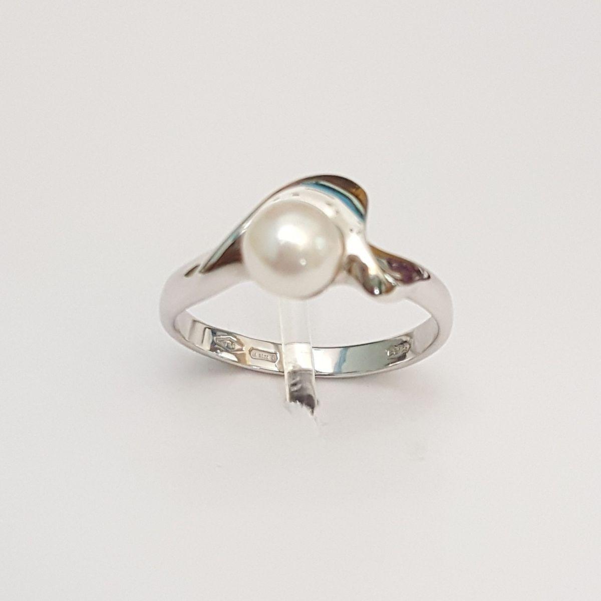 Anello Kiara in Oro Bianco LI83-B con Perla Bianca