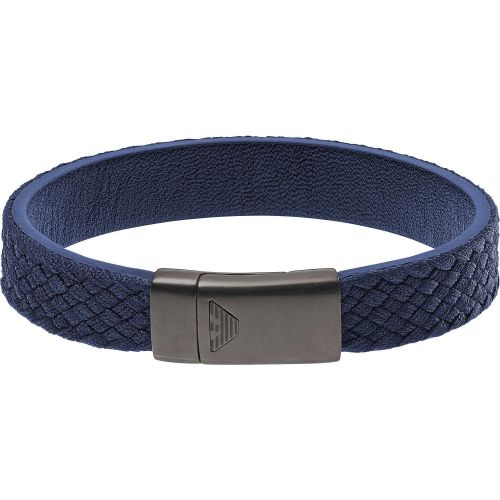 Bracciale Uomo Emporio Armani EGS2379020 in Pelle Blu