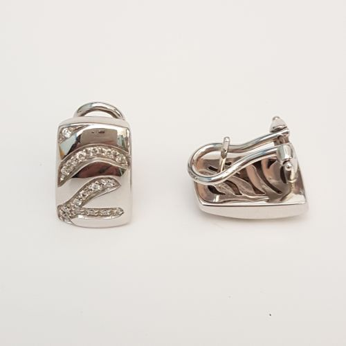 Orecchini Yukiko in Oro Bianco e Diamanti KERD 363