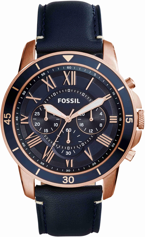 Orologio Cinturino Grant Uomo Sport Fs5237 Blu Con Cronografo Fossil uT3lcFKJ1