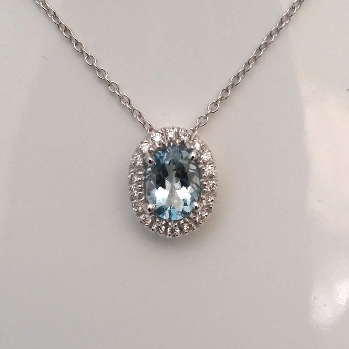 Collana Davite & Delucchi CLN009295 in Oro Bianco con Ametista e Diamanti