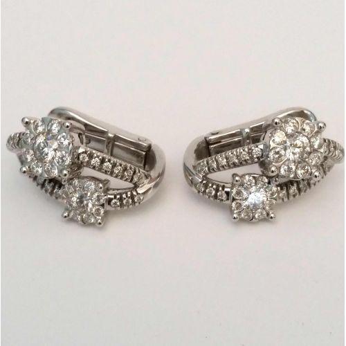 Orecchini Davite & Delucchi BB008543 05 in Oro Bianco con Diamanti