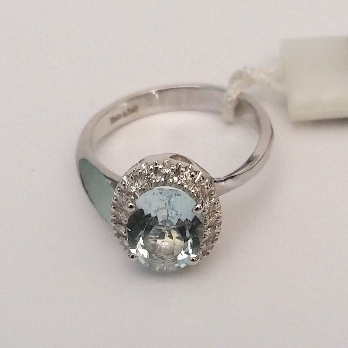 Anello Davite & Delucchi AA028926 in Oro Bianco con Ametista e Diamanti