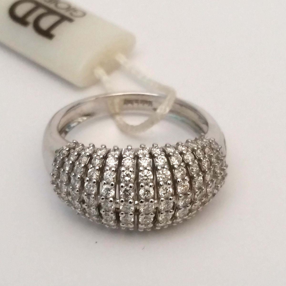 Anello Davite & Delucchi AA029936 05 in Oro Bianco con Diamanti