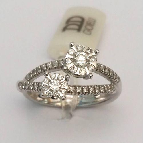 Anello Davite & Delucchi AA030128 05 in Oro Bianco con Diamanti