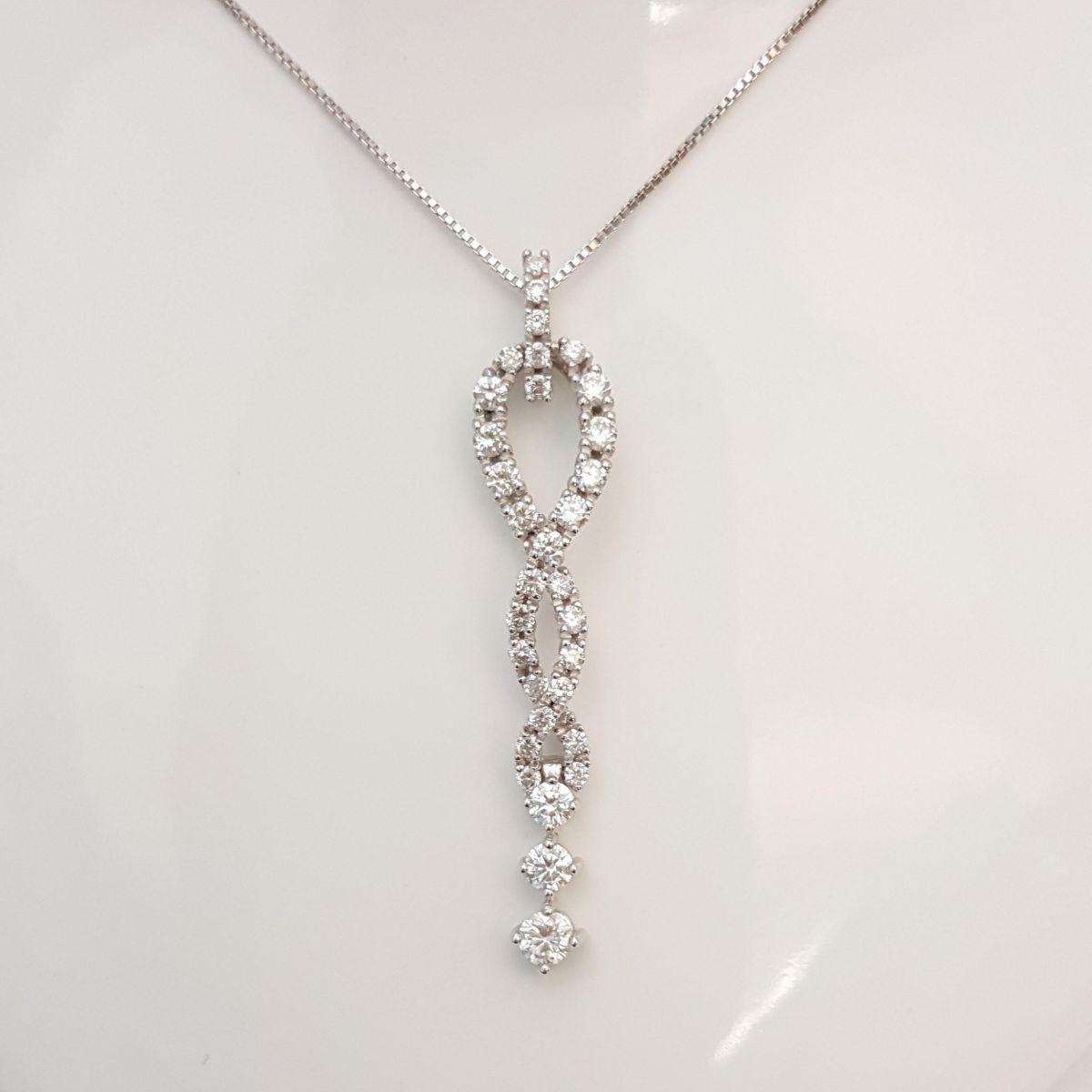Collana Davite & Delucchi CLN010148 175 in Oro Bianco con Diamanti