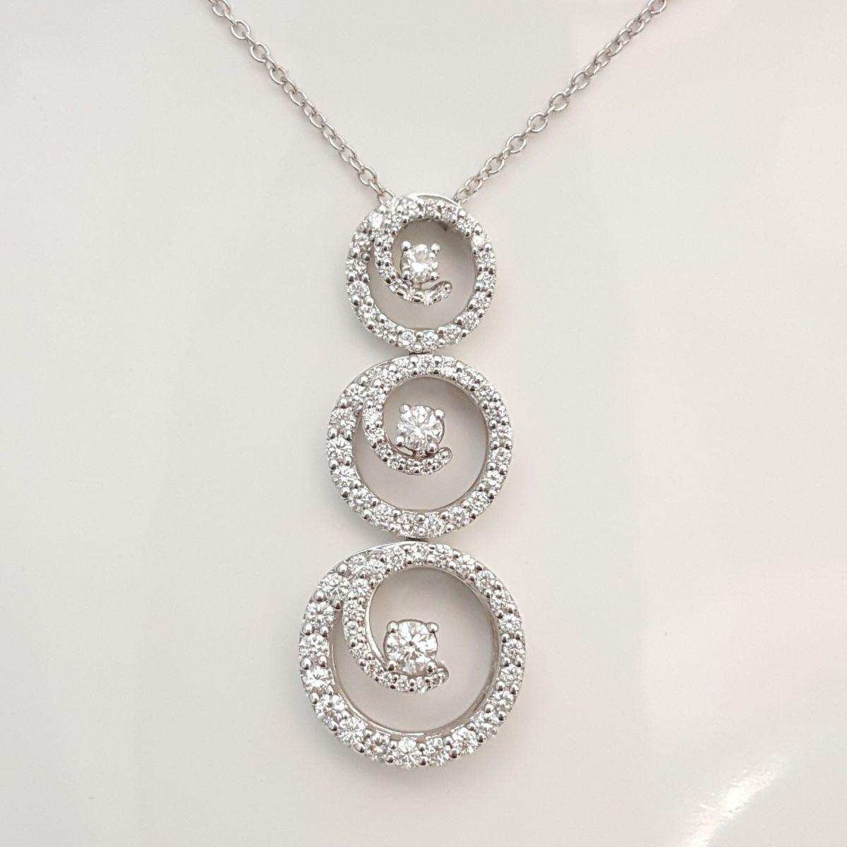Collana Davite & Delucchi CLN010636 05 in Oro Bianco con Diamanti