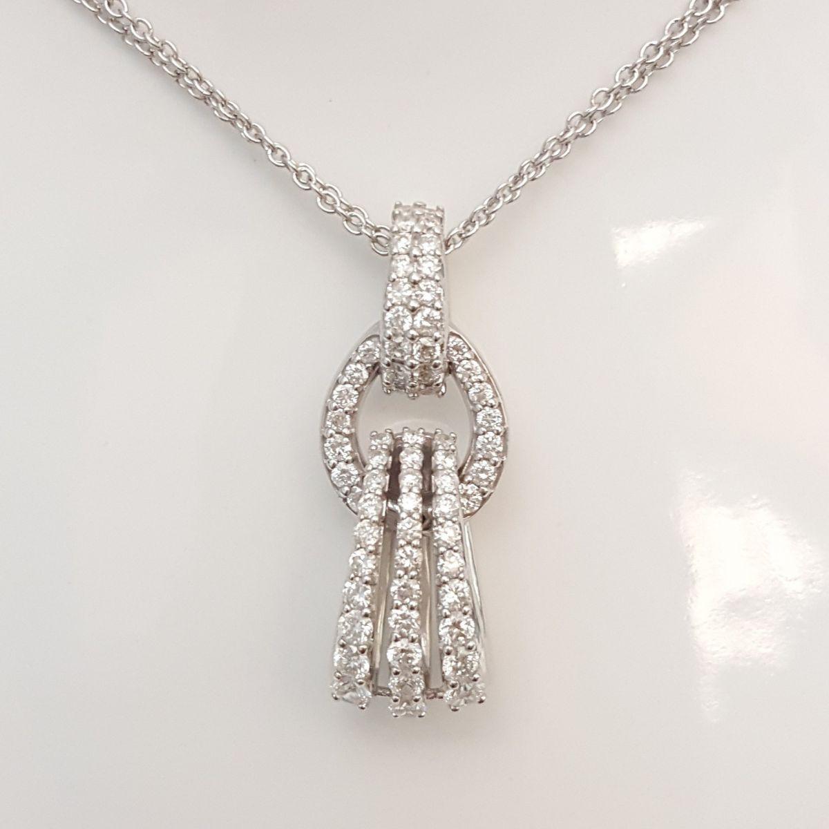 Collana Davite & Delucchi CLN010470 05 in Oro Bianco con Diamanti