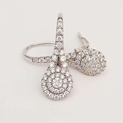 Orecchini Davite & Delucchi BB008583 05 in Oro Bianco con Diamanti