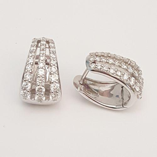 Orecchini Davite & Delucchi BB 0088433 05 in Oro Bianco con Diamanti