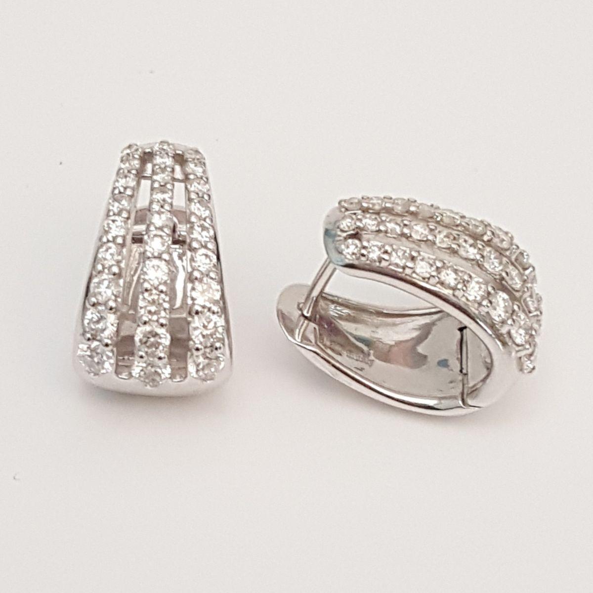 San Francisco 6f4c9 a7cc2 Orecchini Davite & Delucchi Oro Bianco BB 0088433 05 con Diamanti