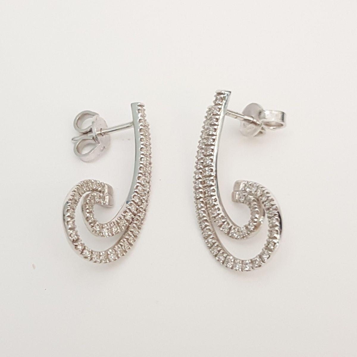 Orecchini Fantasia Davite & Delucchi BB 008321 in Oro Bianco con Diamanti