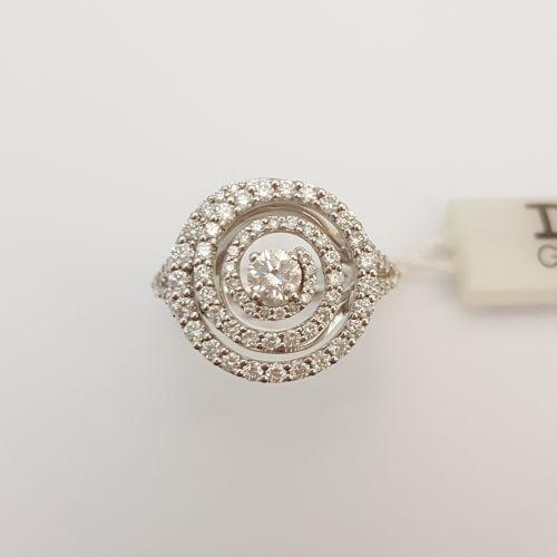 Anello Davite & Delucchi AA 030157 05 in Oro Bianco con Diamanti