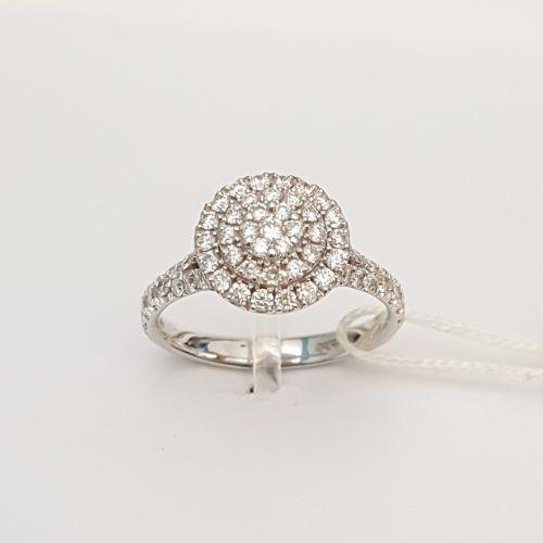 Anello Davite & Delucchi AA 030159 05 in Oro Bianco con Diamanti