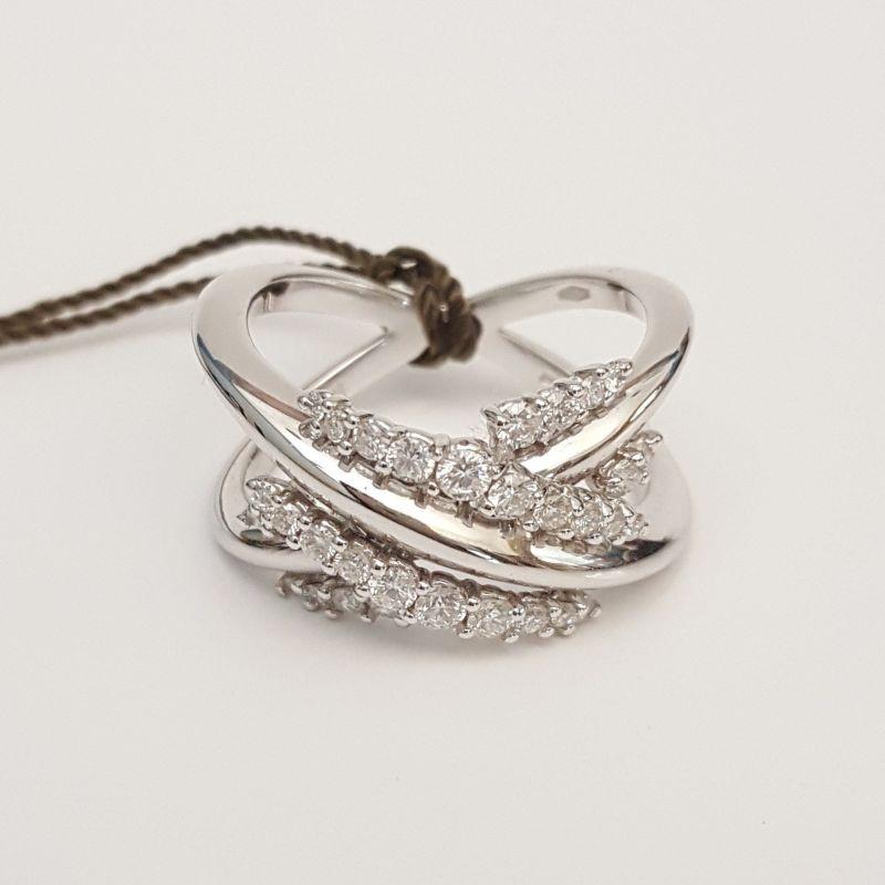 Anello DonnaOro DFAF0898.065 in Oro Bianco con Diamanti