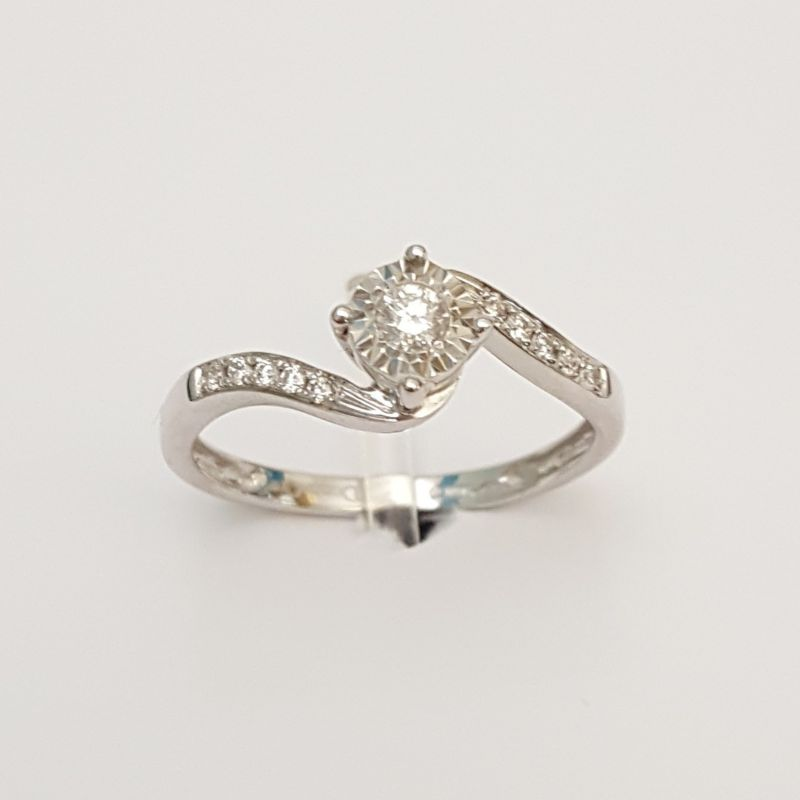 Anello DonnaOro DKAC2398.015 in Oro Bianco con Diamanti