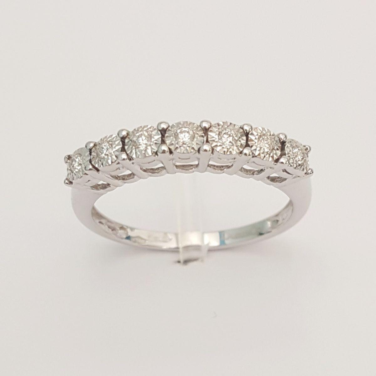 Anello Veretta DonnaOro DKAV2406.012 in Oro Bianco e Diamanti
